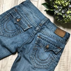 True Religion GENO Relaxed Fit Slim Cut Jeans